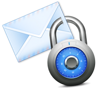 Secure email, calendar and contact list data accessed from mobile devices